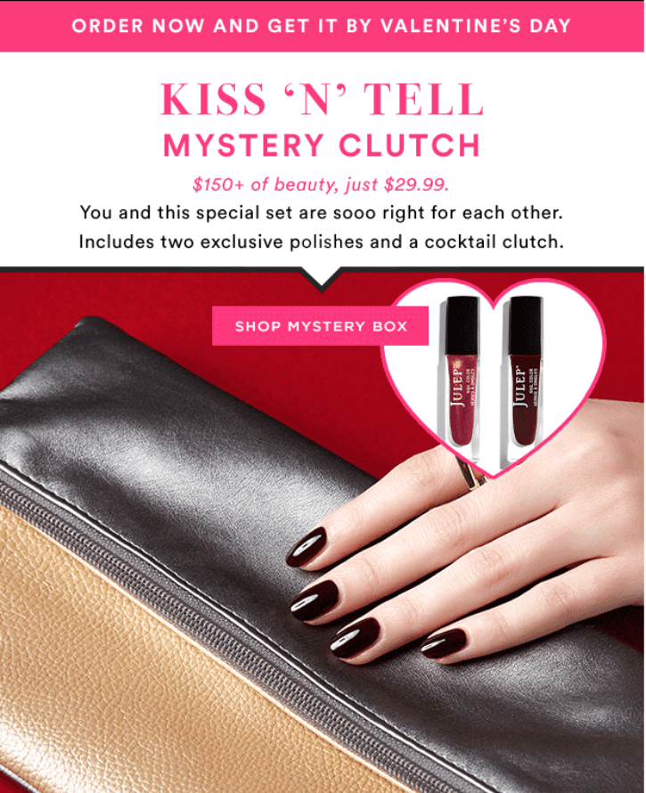 Julep February 2016 Kiss N Tell Mystery Clutch Available Now + ...