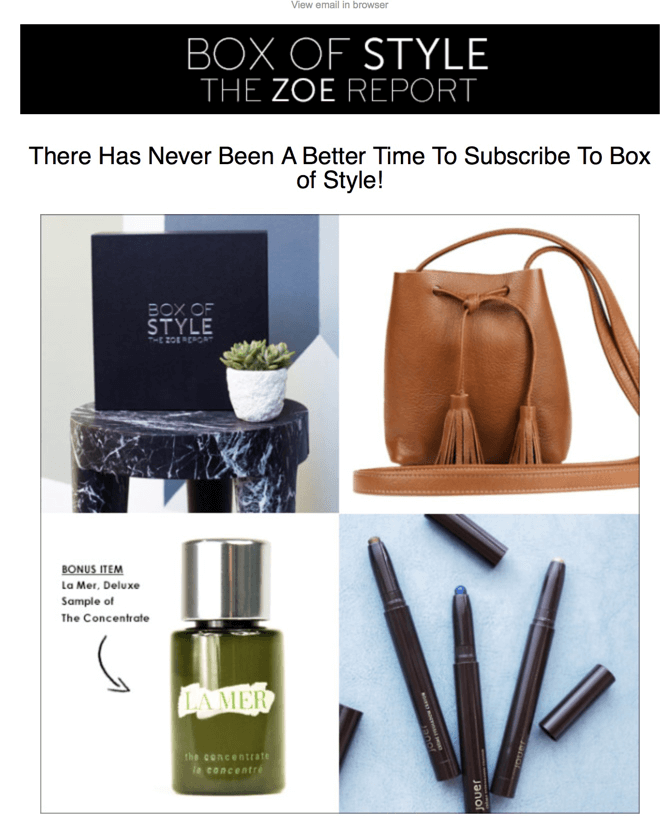 Rachel Zoe Report Box of Style $20 Coupon – Spring 2016 Box
