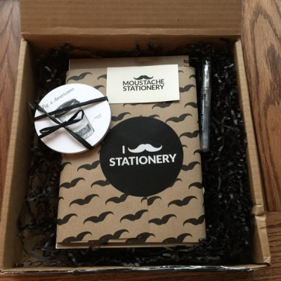 Moustache Stationery February 2016 Subscription Box Review + Coupon