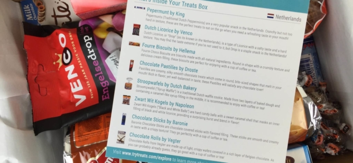 Treats Box February 2016 Review & Coupon Code – The Netherlands