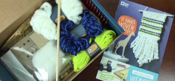 Doodle Crate Subscription Box Review & Coupon – March 2016 Loom Tapestry