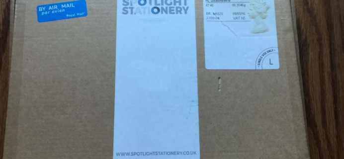 Spotlight Stationery Subscription Box Review & Coupon – March 2016