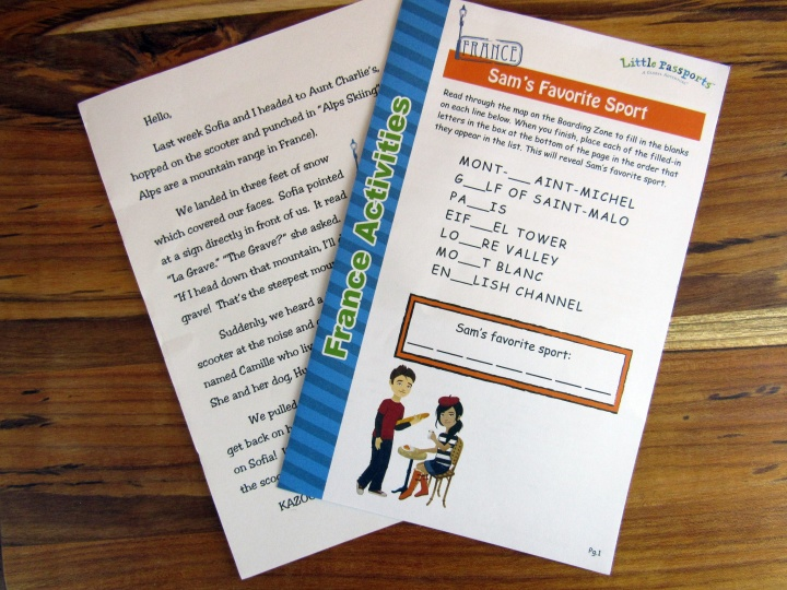 Letter and Activity Booklet