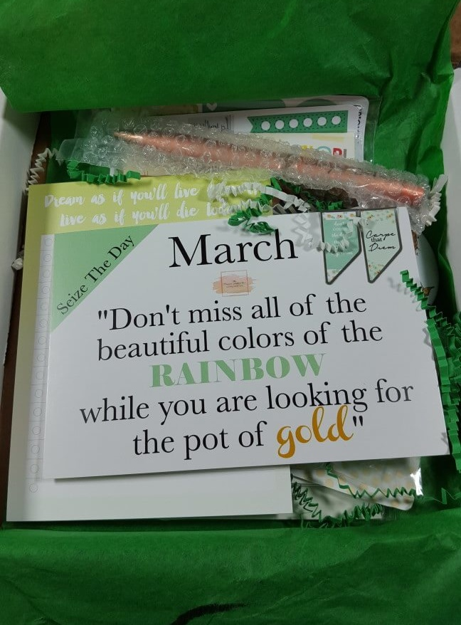 The Planner Addict Box March 2016 Subscription Box Review