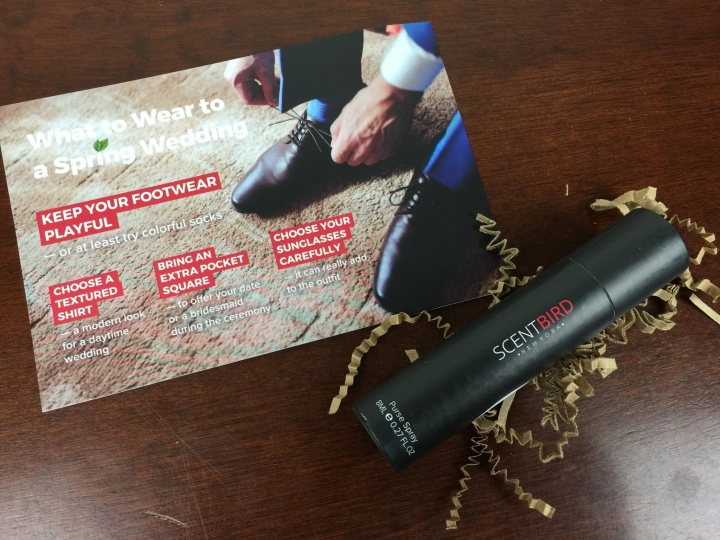 Scentbird Box March 2016 review