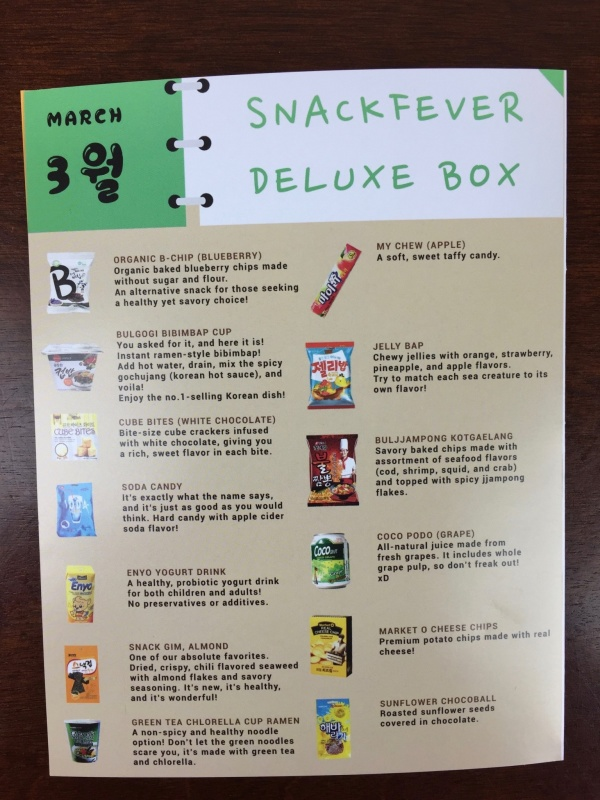 Snack Fever Box March 2016 (2)