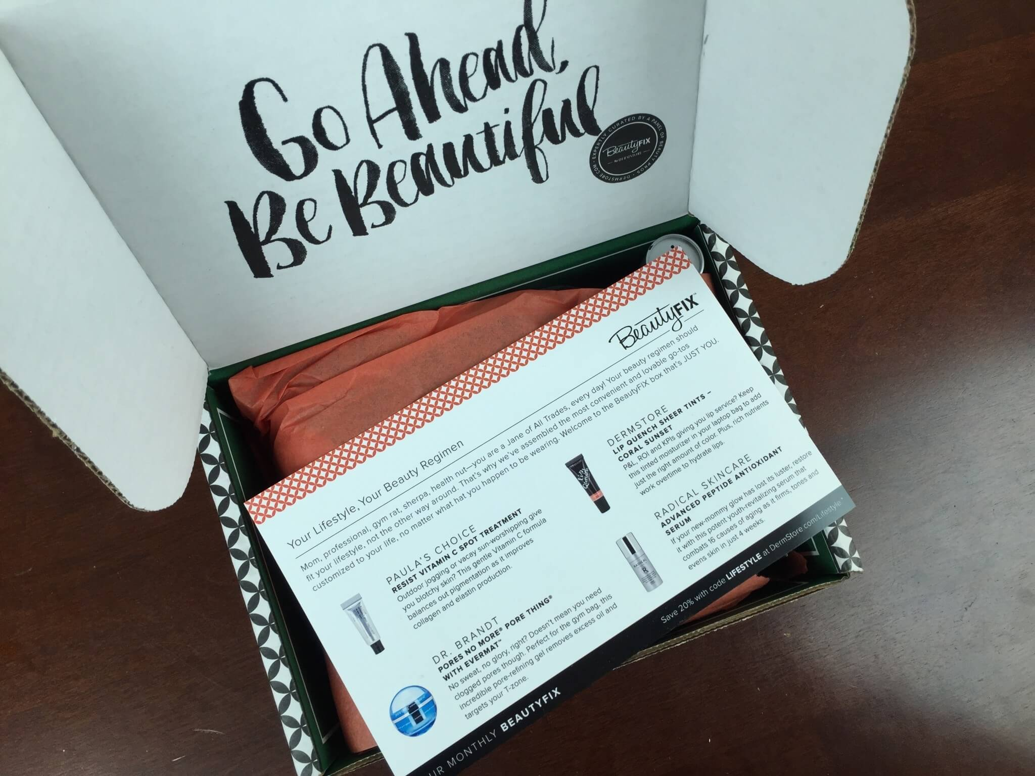 beautyfix march 2016 unboxing