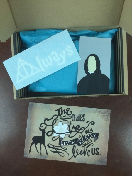 fandom of the month snape tribute unboxing
