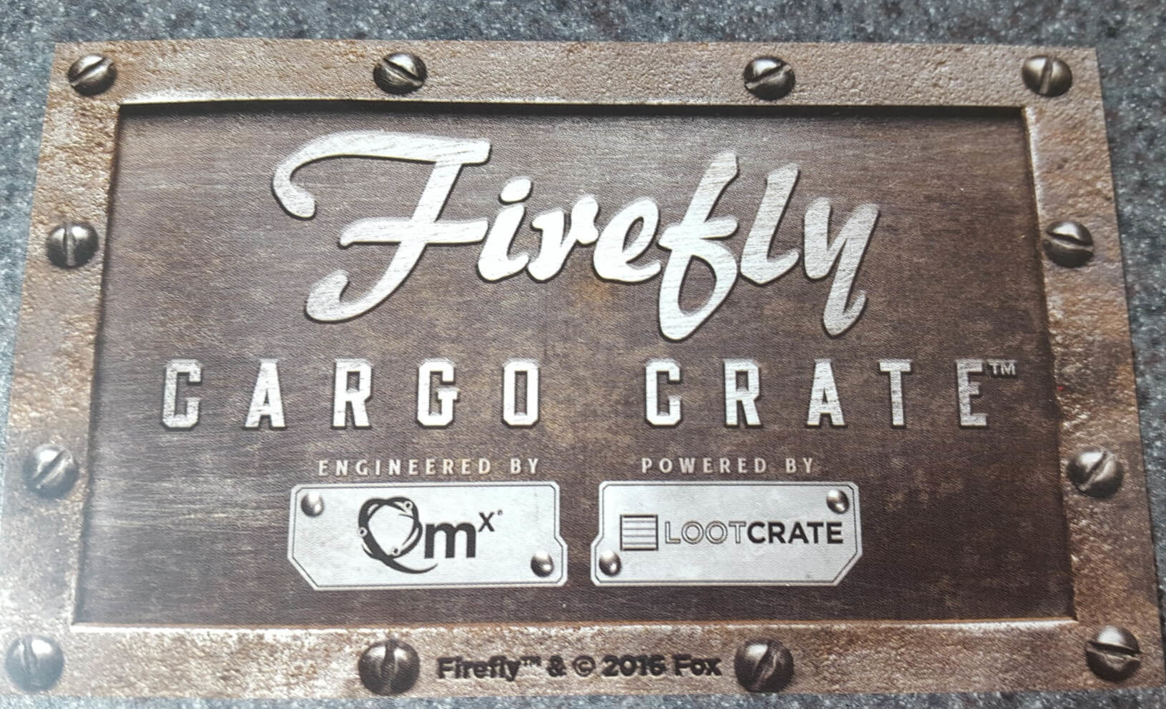 Firefly Cargo Crate Founders Pin + Subscriptions Close Soon!