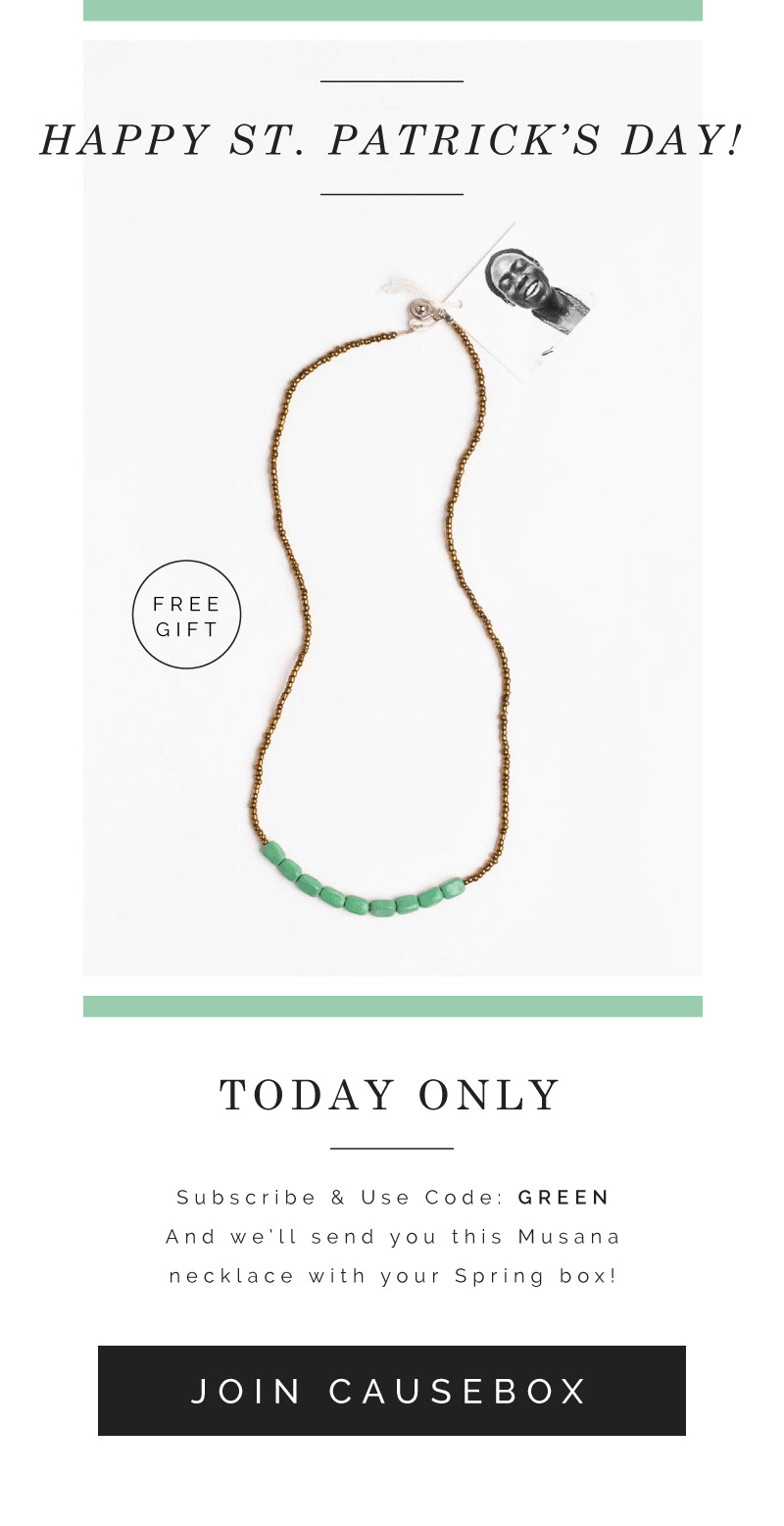 Causebox Free Necklace with First Box – Today Only