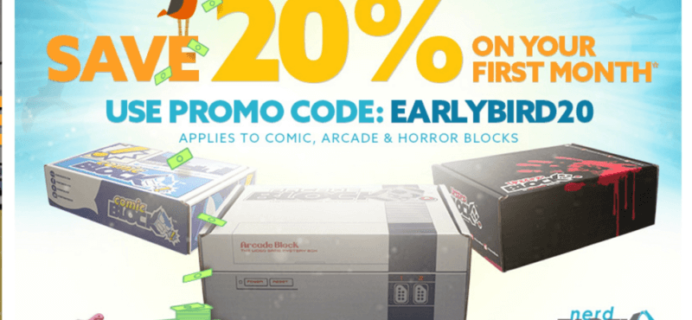 20% Off First Arcade Block, Comic Block or Horror Block Coupon + June 2016 Spoilers