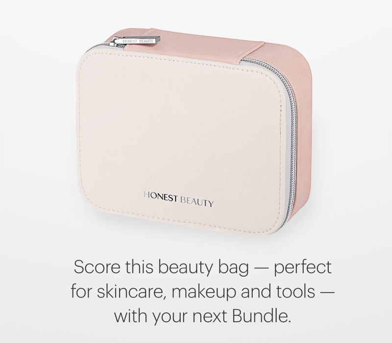 Honest Beauty Freebie:  Travel Bag with April Bundle!