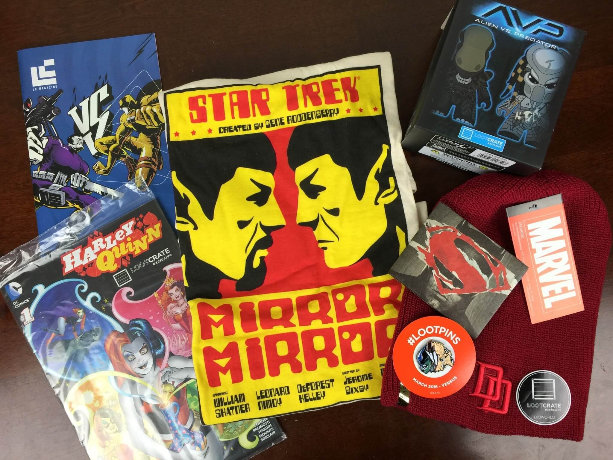 Loot Crate March 2016 Review + Coupons – VERSUS