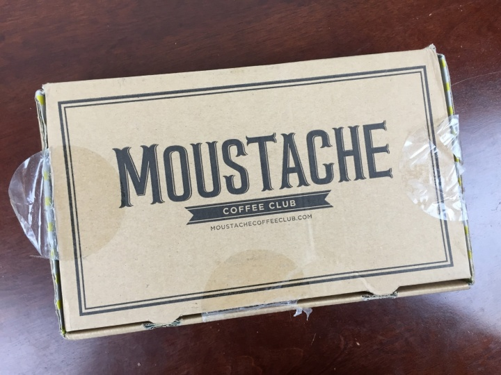 moustache coffee club march 2016 box