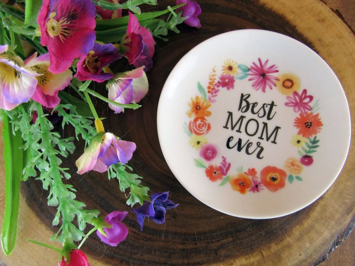 Best Mom Floral Trinket Dish