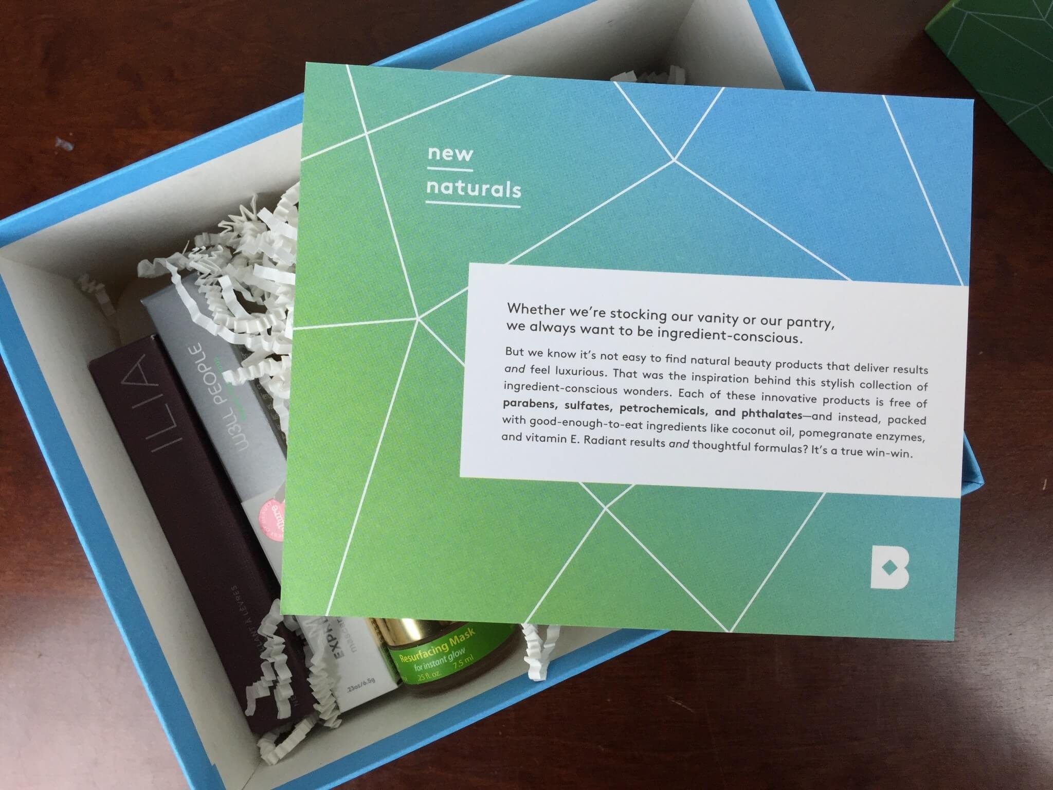 Birchbox New Naturals Box April 2016 unboxing