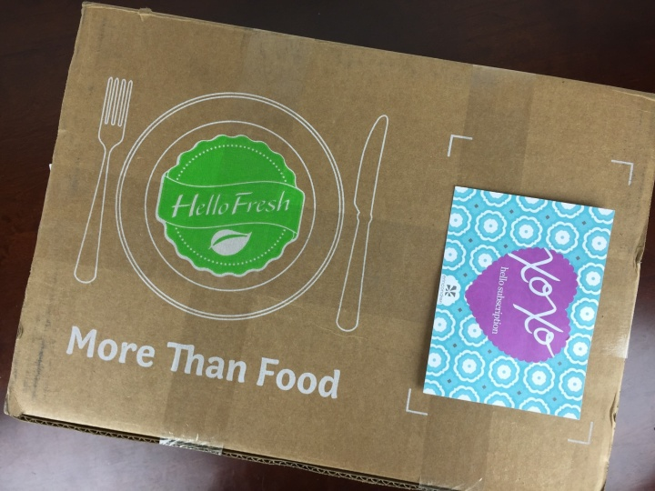 Hello Fresh Box April 2016 box