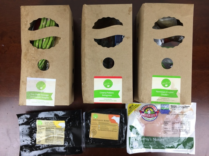 Hello Fresh Box April 2016 review