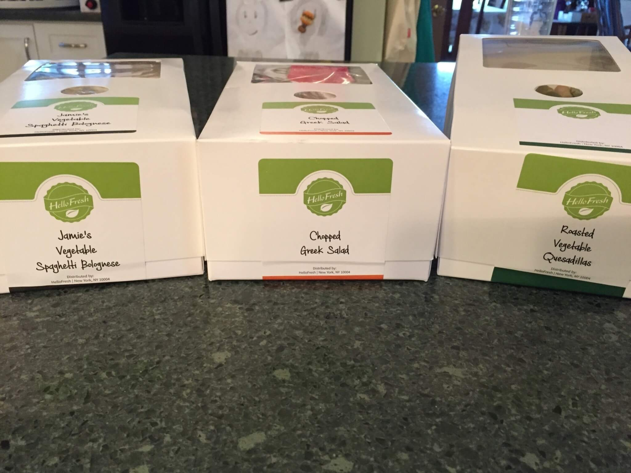 Hello Fresh Veggie Box April 2016 review