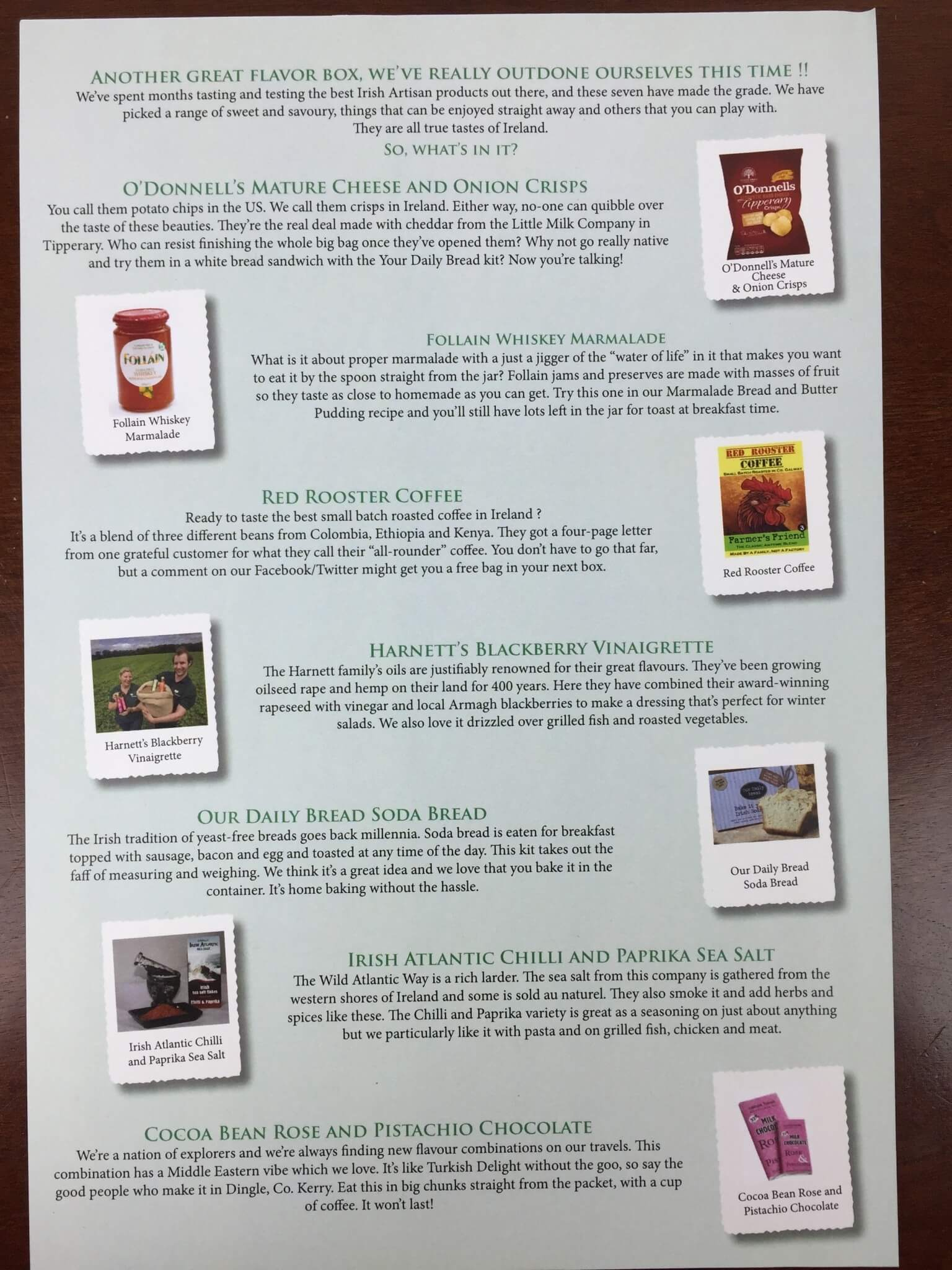 Irish Taste Club Box April 2016 (1)