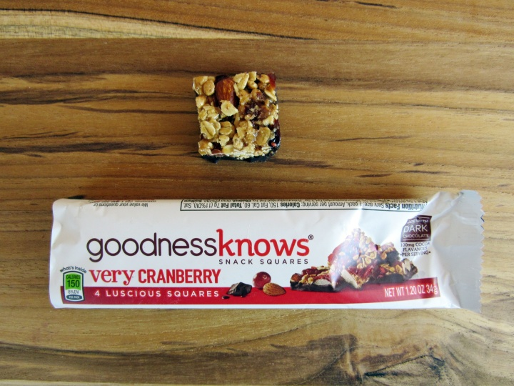 Goodness Knows Very Cranberry Snack Squares
