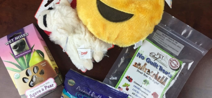 Pooch Perks Dog April 2016 Subscription Box Review & Coupons