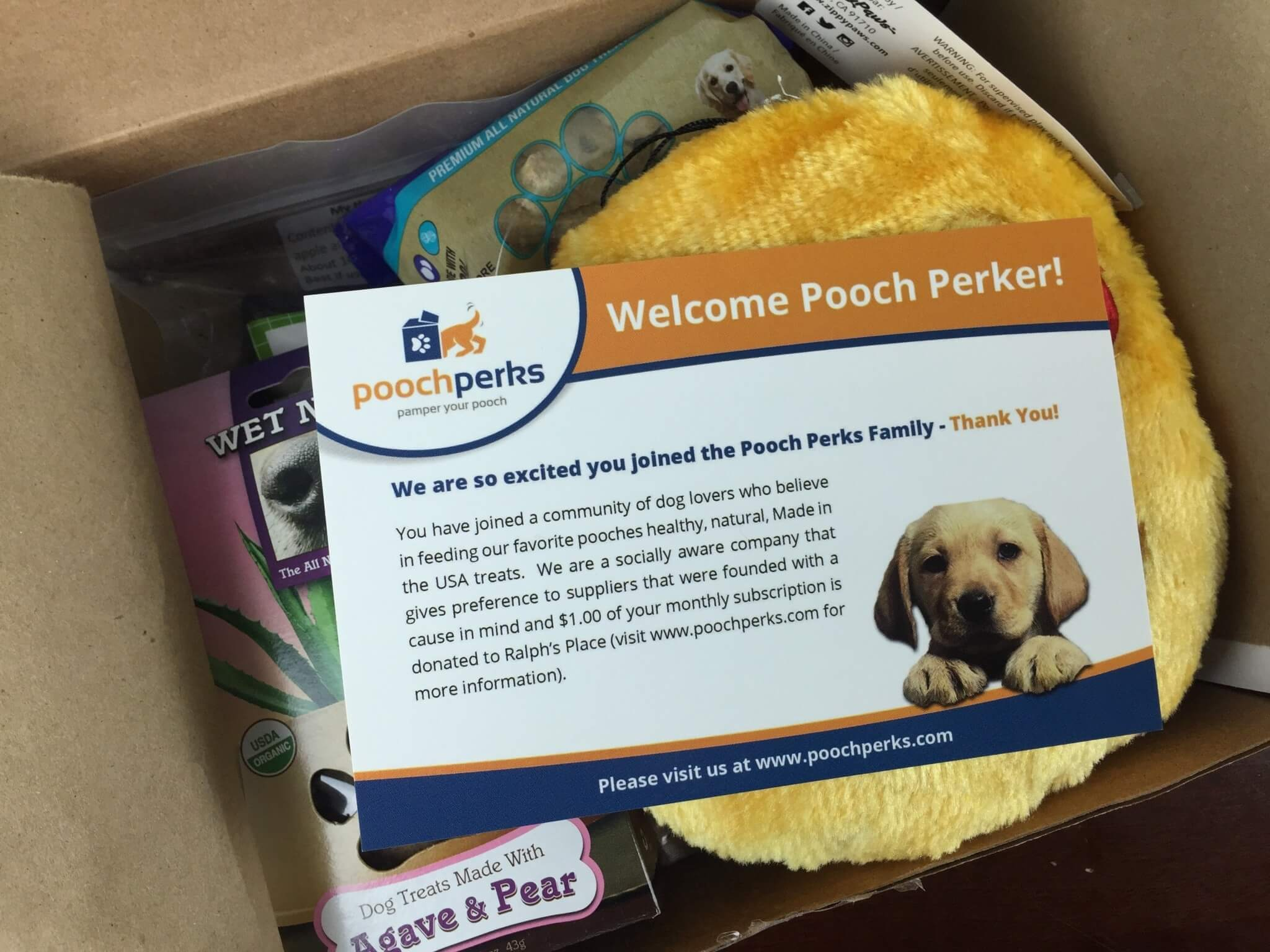 Pooch Perks Box April 2016 unboxed