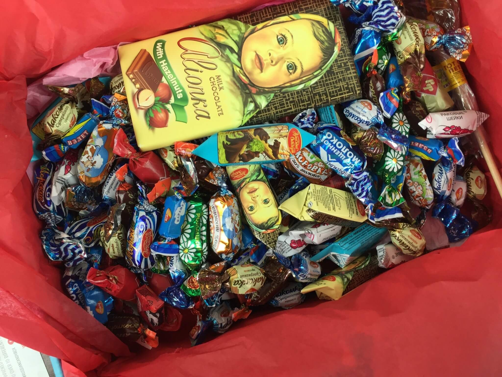 Russian Candy Box April 2016 unboxed