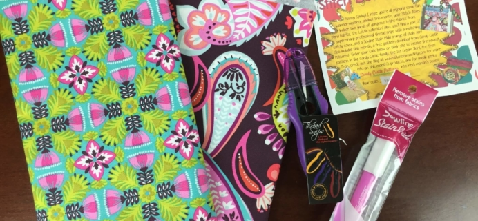 Stitch Box Monthly March 2016 Subscription Box Review