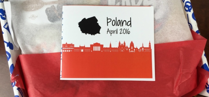 Universal Yums April 2016 Subscription Box Review – Poland