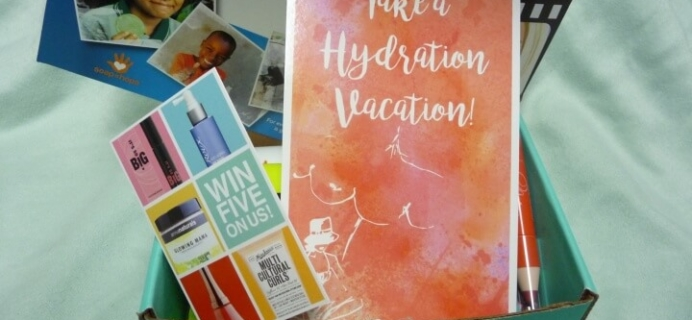 Beauty Box 5 April 2016 Subscription Box Review – Take a Hydration Vacation