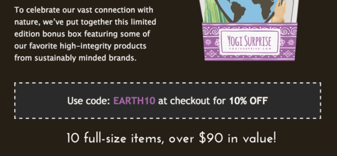 Yogi Surprise Earth Day Box Available + Spoilers + Coupon!