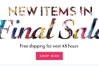 48 Hours Only – Free Shipping at Golden Tote + $15 Final Sale Items!