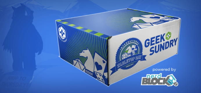Nerd Block & Geek & Sundry Limited Edition Tabletop Gaming Box Announced