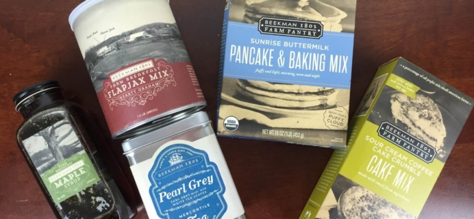 Beekman 1802 Specialty Food Club May 2016 Subscription Box Review