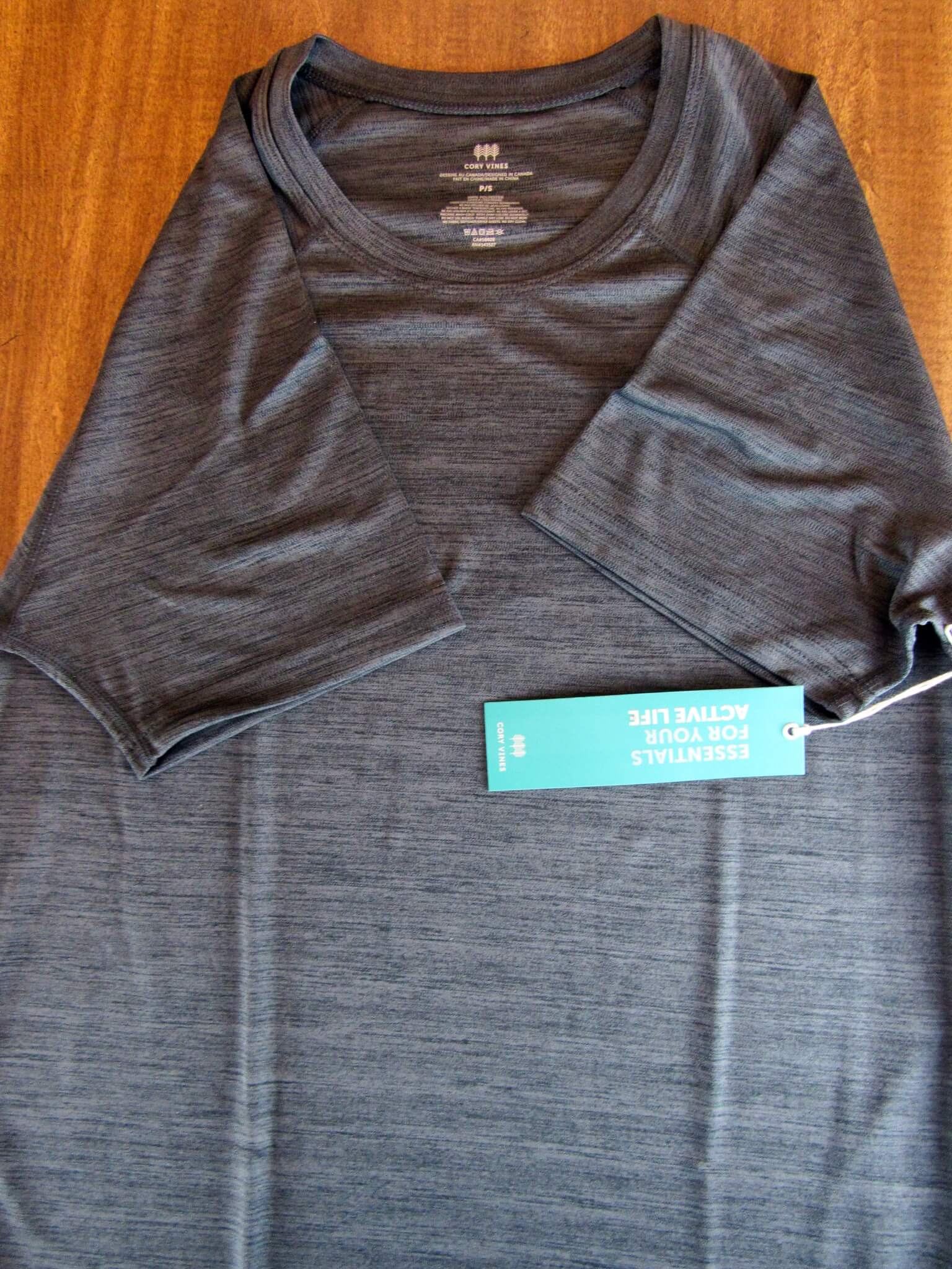 The Path Tee in Onyx Gray