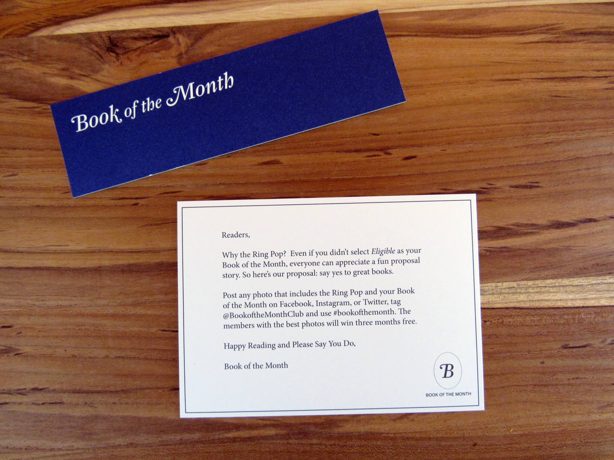 Bookmark and Curator Letter