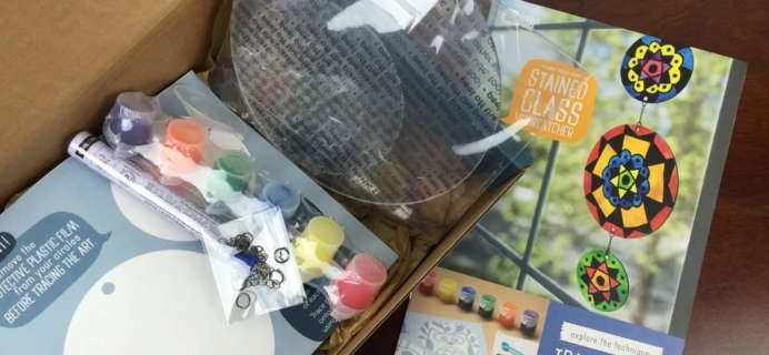 Doodle Crate May 2016 Subscription Box Review & Coupon – Stained Glass!