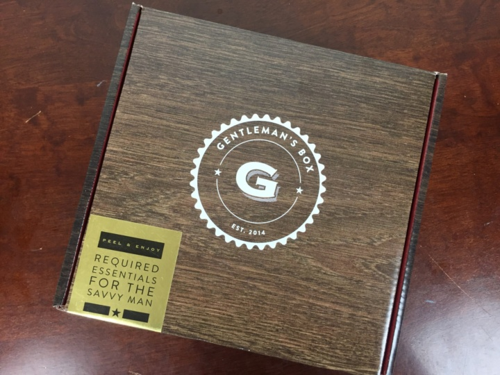 Gentleman's Box May 2016 box