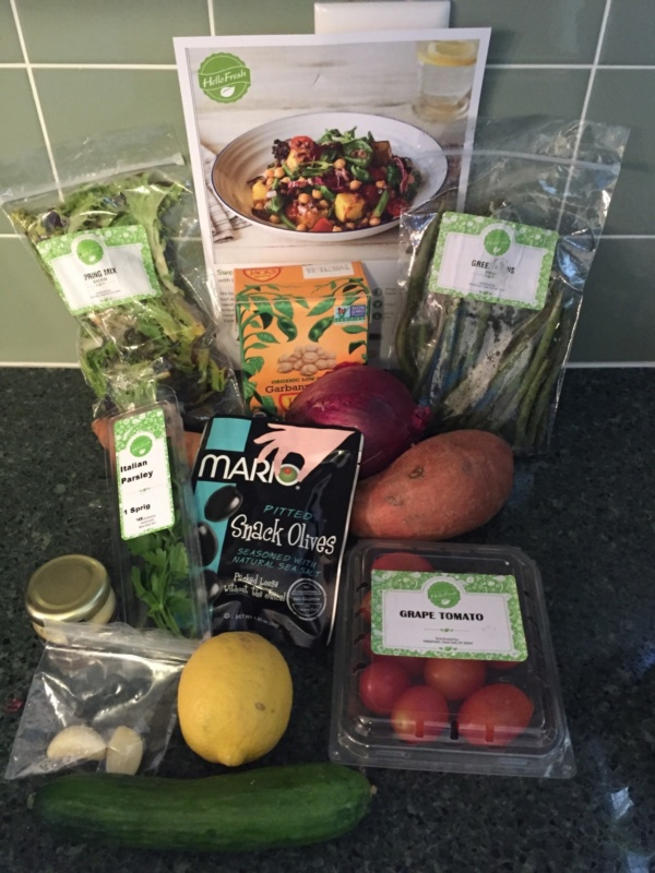 Hello Fresh Veggie Box May 2016