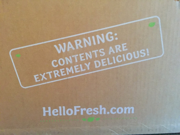 Hello Fresh Veggie Box May 2016 box