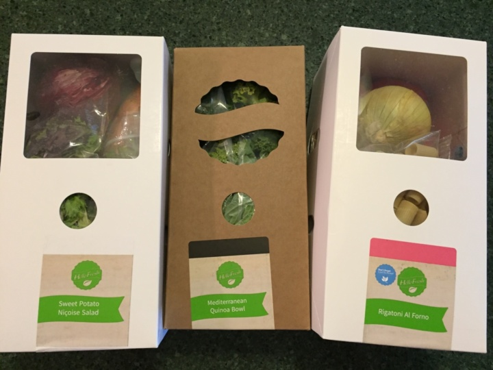Hello Fresh Veggie Box May 2016 review