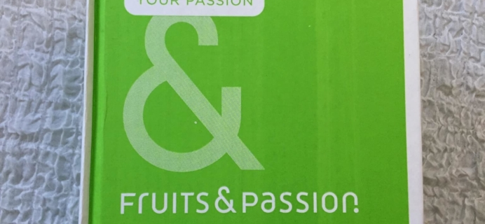 Fruits & Passion May 2016 Passion Box Subscription – LIVE Box Review