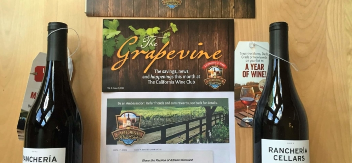 California Wine Club April 2016 Review & Coupons