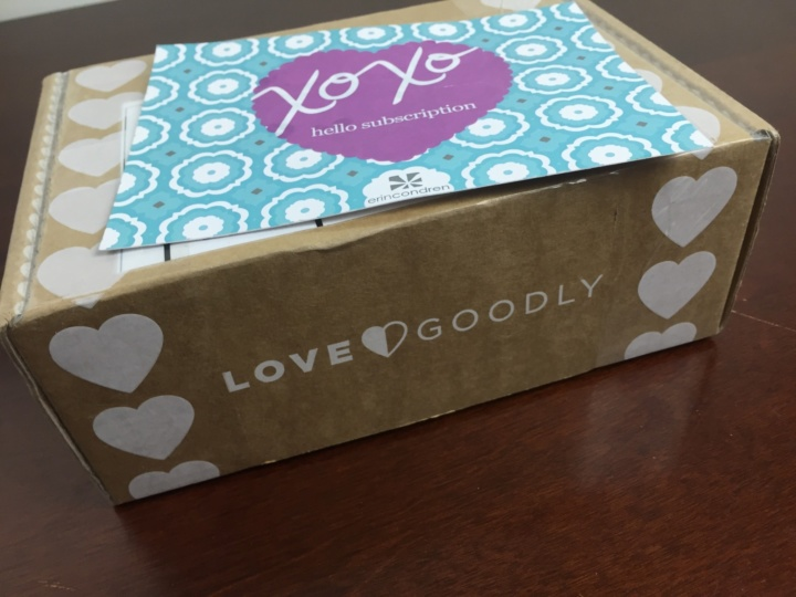 Love Goodly June-July 2018 box