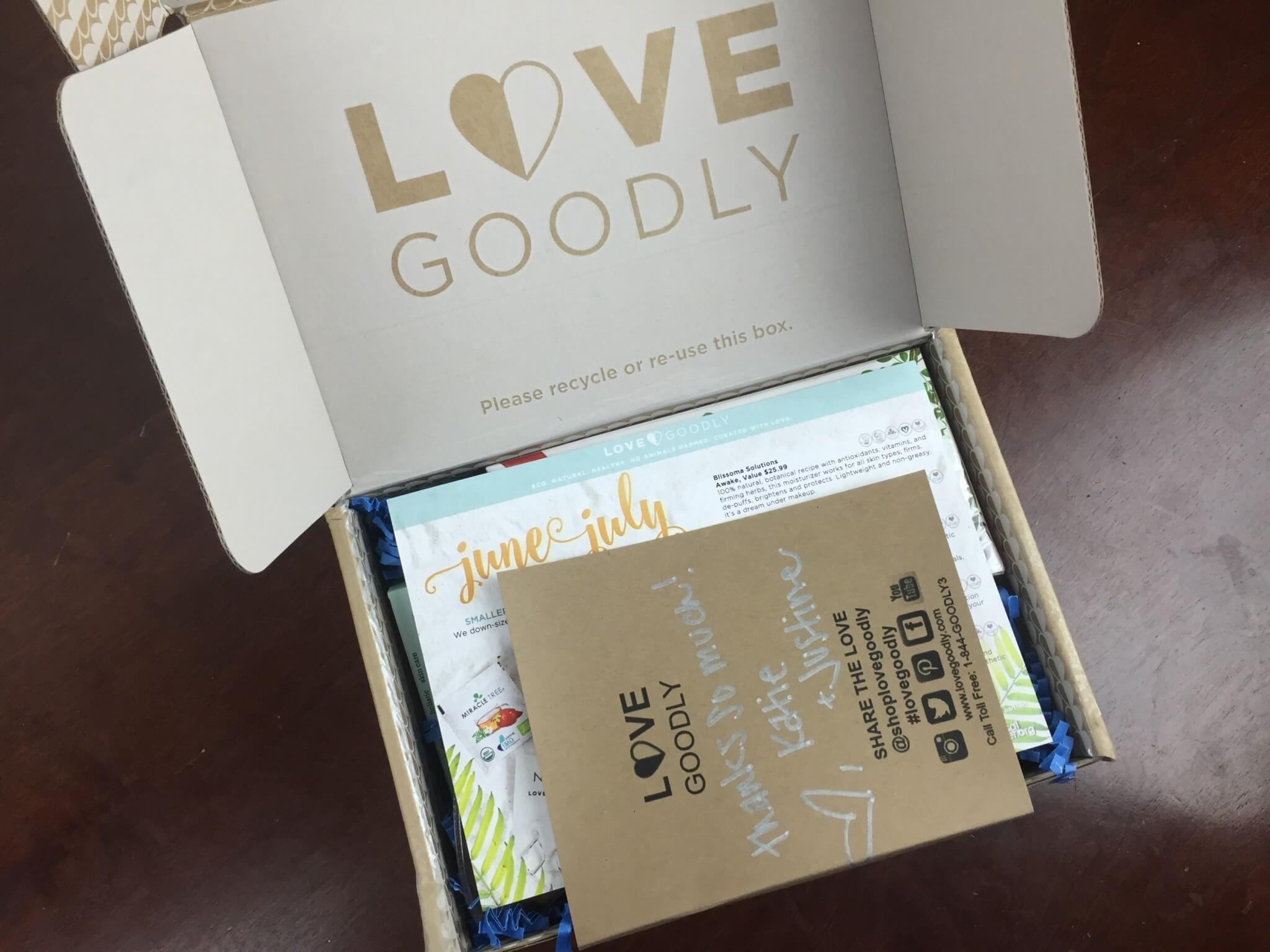 Love Goodly June-July 2018 unboxing