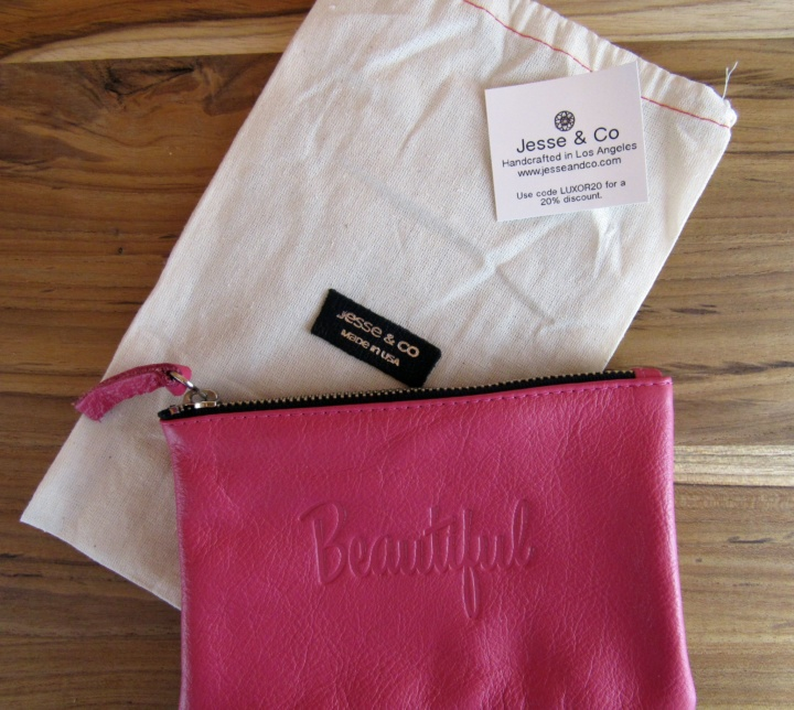 "JESSE & CO. Genuine Leather ""Beautiful"" Word Pouch"