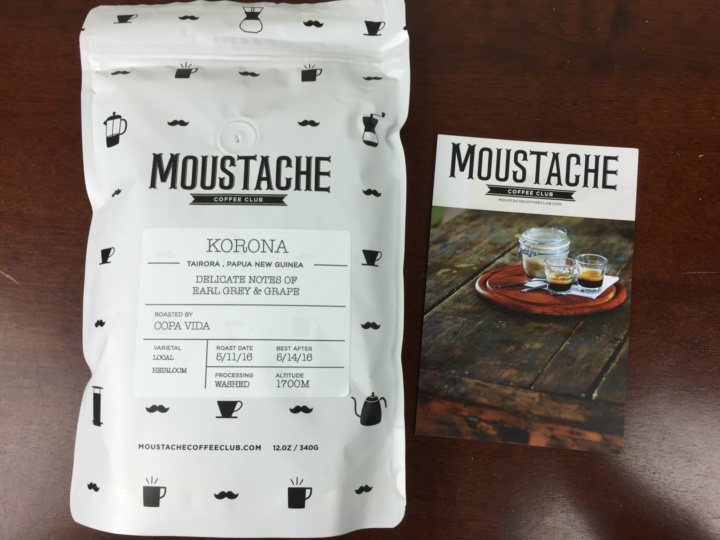 Moustache Coffee Box May 2016 review