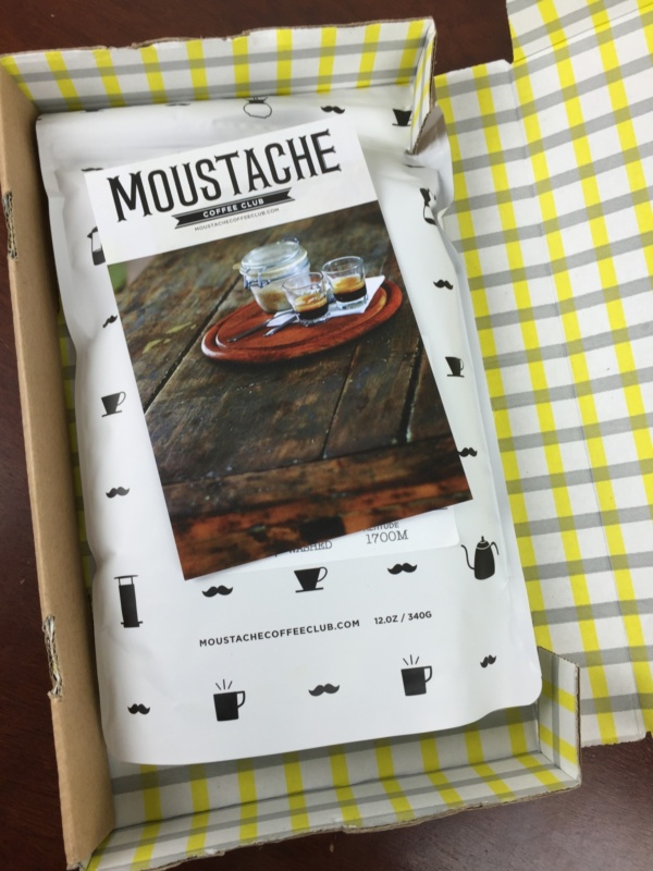 Moustache Coffee Box May 2016 unboxed