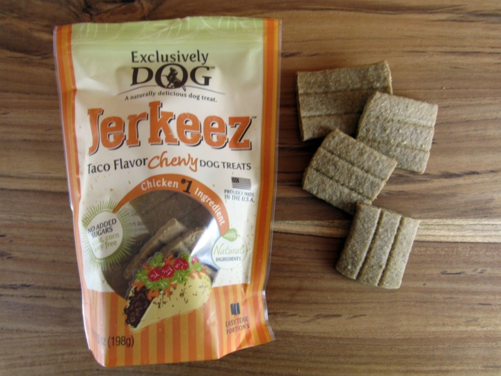 Exclusively Dog Jerkeez Taco Flavor Chewy Dog Treats